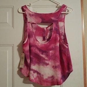 ab57ade673d23 dream out loud selena gomez Tops - Dream Out Loud purple tiedyed shirt size  medium